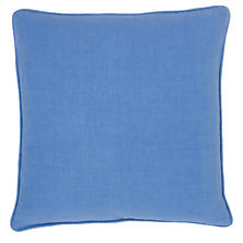 Stone Washed Linen French Blue Decorative Pillow