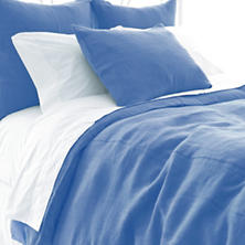 Stone Washed Linen French Blue Duvet Cover