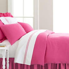 Stone Washed Linen Fuchsia Duvet Cover