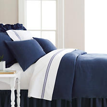 Stone Washed Linen Indigo Duvet Cover