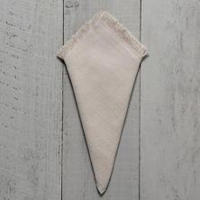 Stone Washed Linen Pearl Grey Fringe Napkin