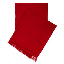 Stone Washed Linen Red Throw
