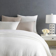 Stone Washed Linen White Duvet Cover