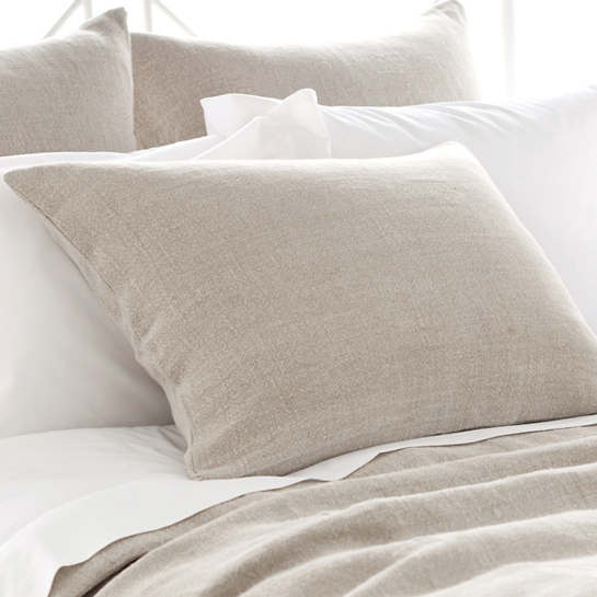 Stone Washed Linen Natural Sham