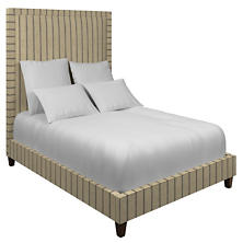 Glendale Stripe Navy/Brown Stonington Bed