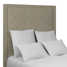 Adams Ticking Navy Stonington Headboard
