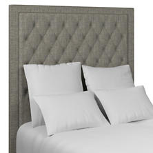 Chevron Indigo Stonington Tufted Headboard