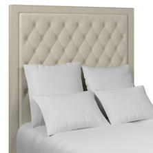Estate Linen Pearl Grey Stonington Tufted Headboard