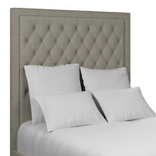 Gauze Metallic Silver Stonington Tufted Headboard