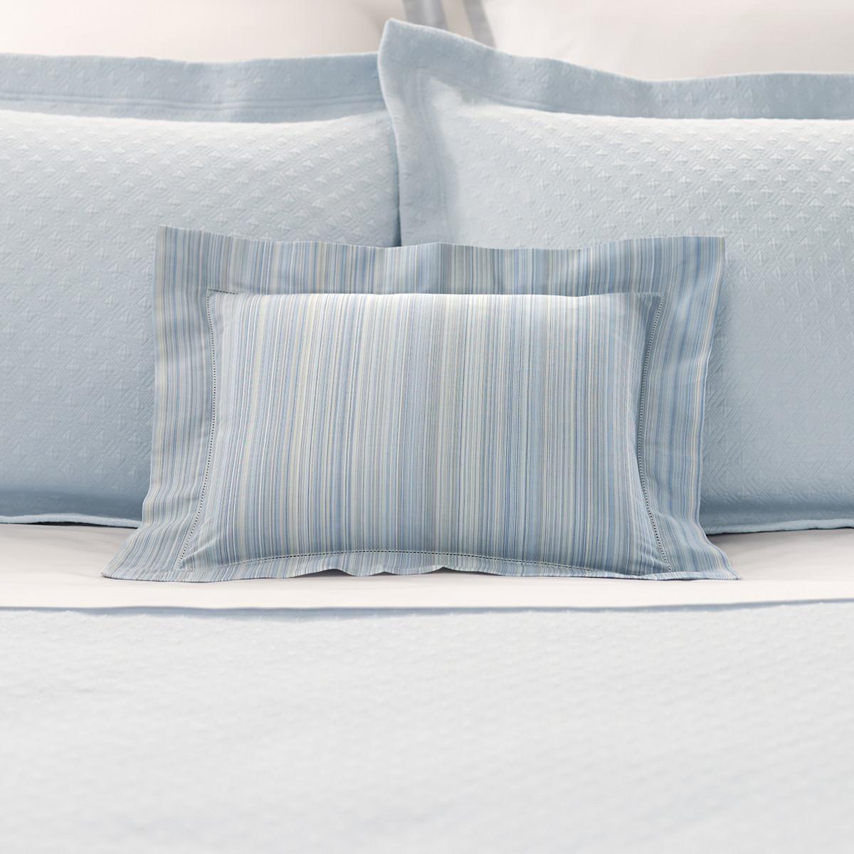 Striee Delphinium Decorative Pillow