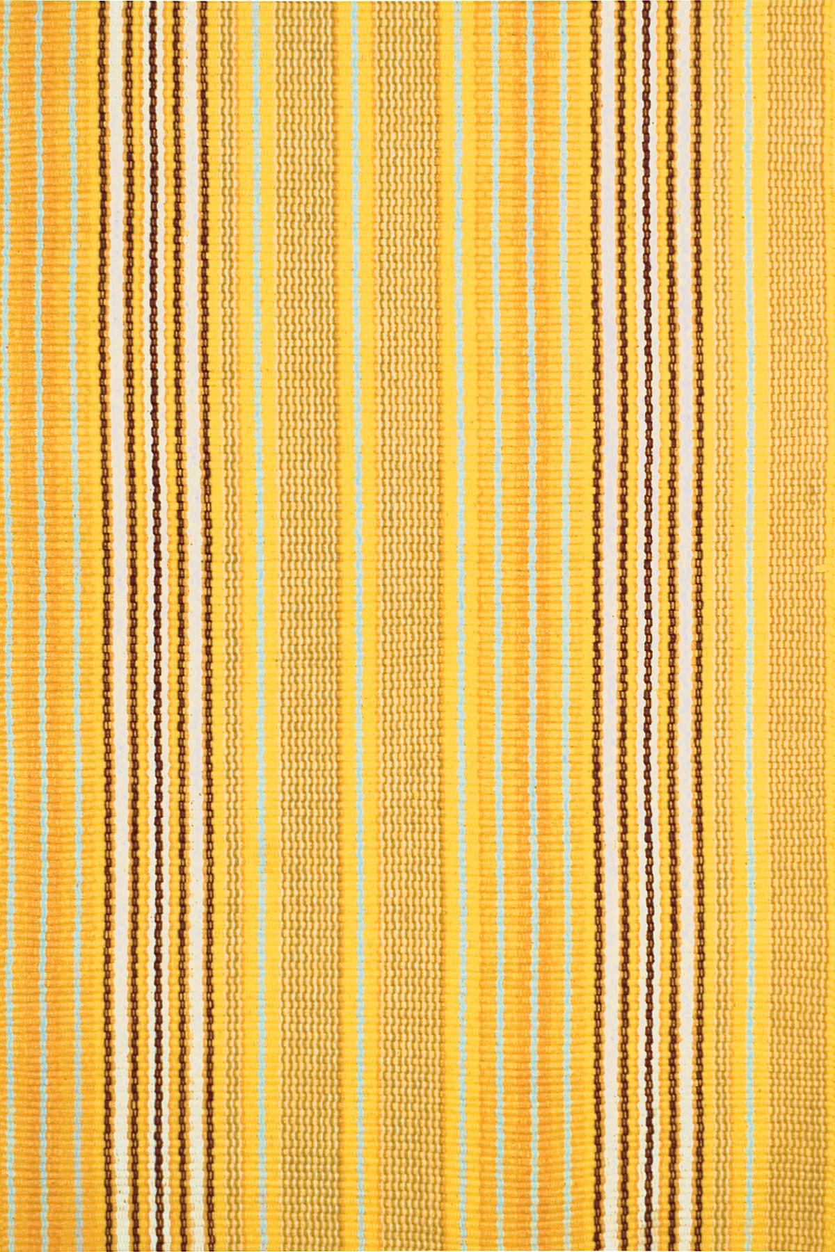 Sunflower Ticking Woven Cotton Rug