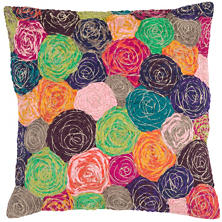 Swirl Embroidered Decorative Pillow