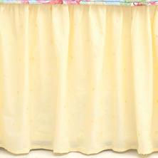 Swiss Dot Voile Butter Bed Skirt