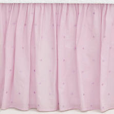 Swiss Dot Voile Lilac Bed Skirt