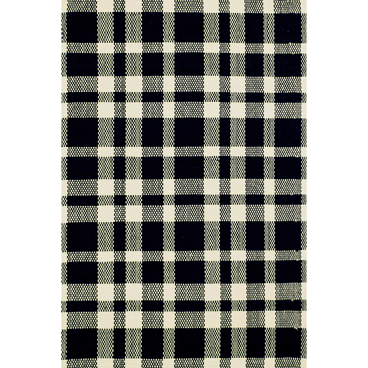 Tattersall Black Ecru Woven Cotton Rug Dash Amp Albert