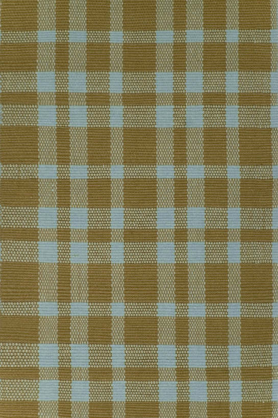 Tattersall Slate/Brown Woven Cotton Rug
