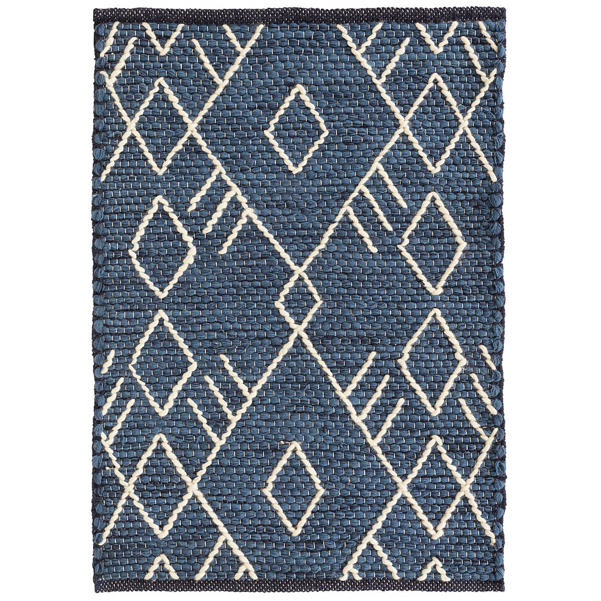 Teca Indigo Woven Wool Rug Dash Amp Albert