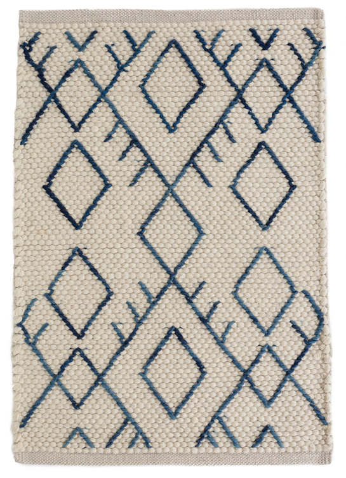Teca Ivory Woven Wool Rug