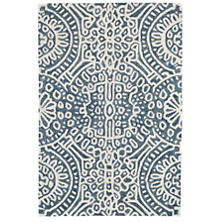 Temple Ink Wool Micro Hooked Rug