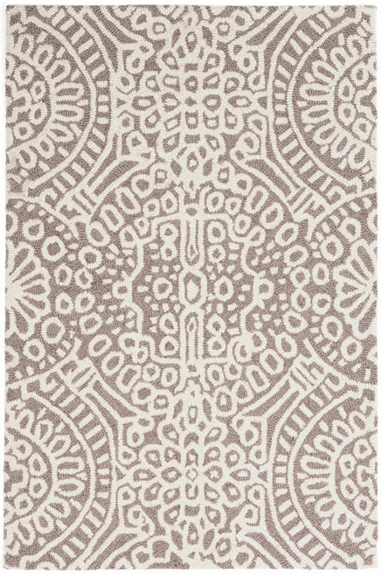 Temple Taupe Wool Micro Hooked Rug