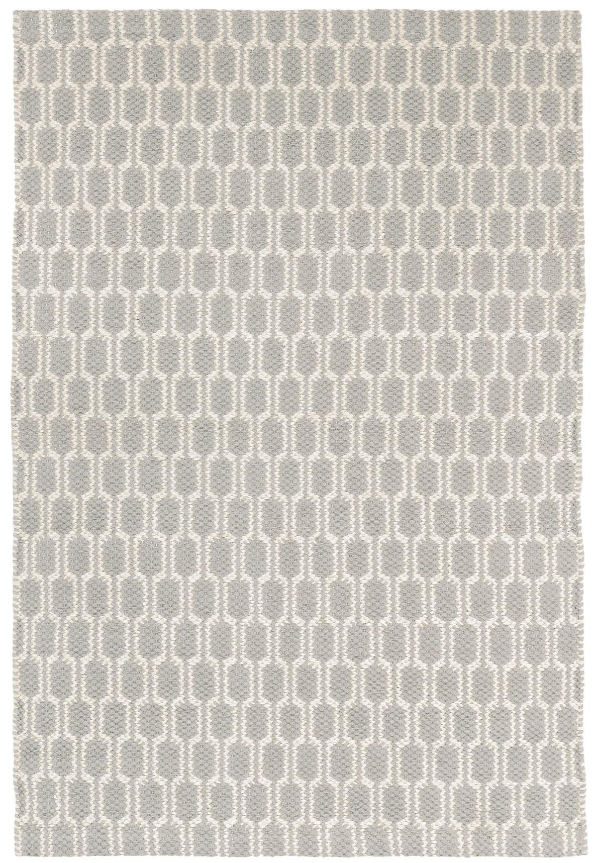 Terra Dove Grey Woven Cotton Rug