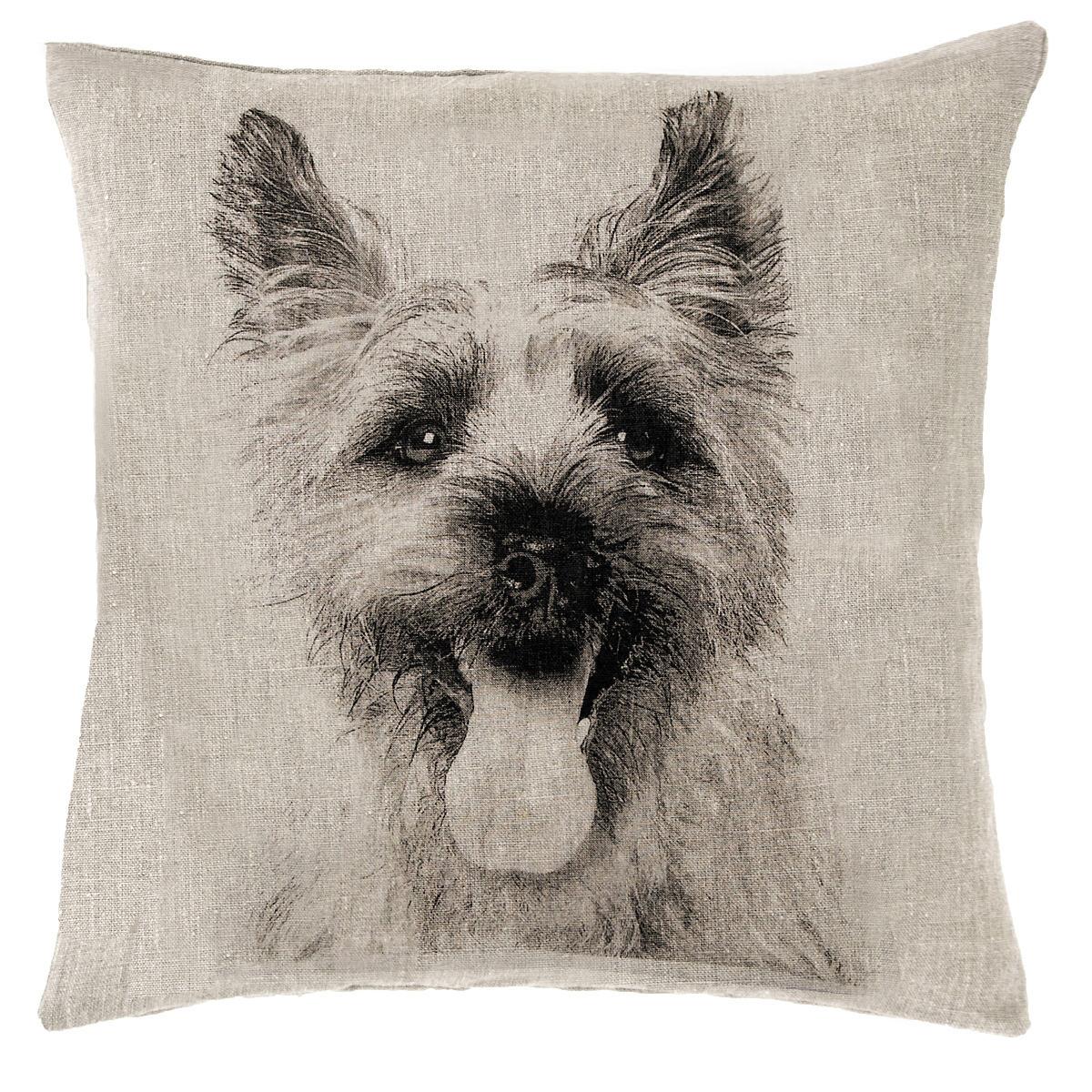 Terrier Natural Decorative Pillow