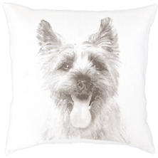 Terrier White Decorative Pillow