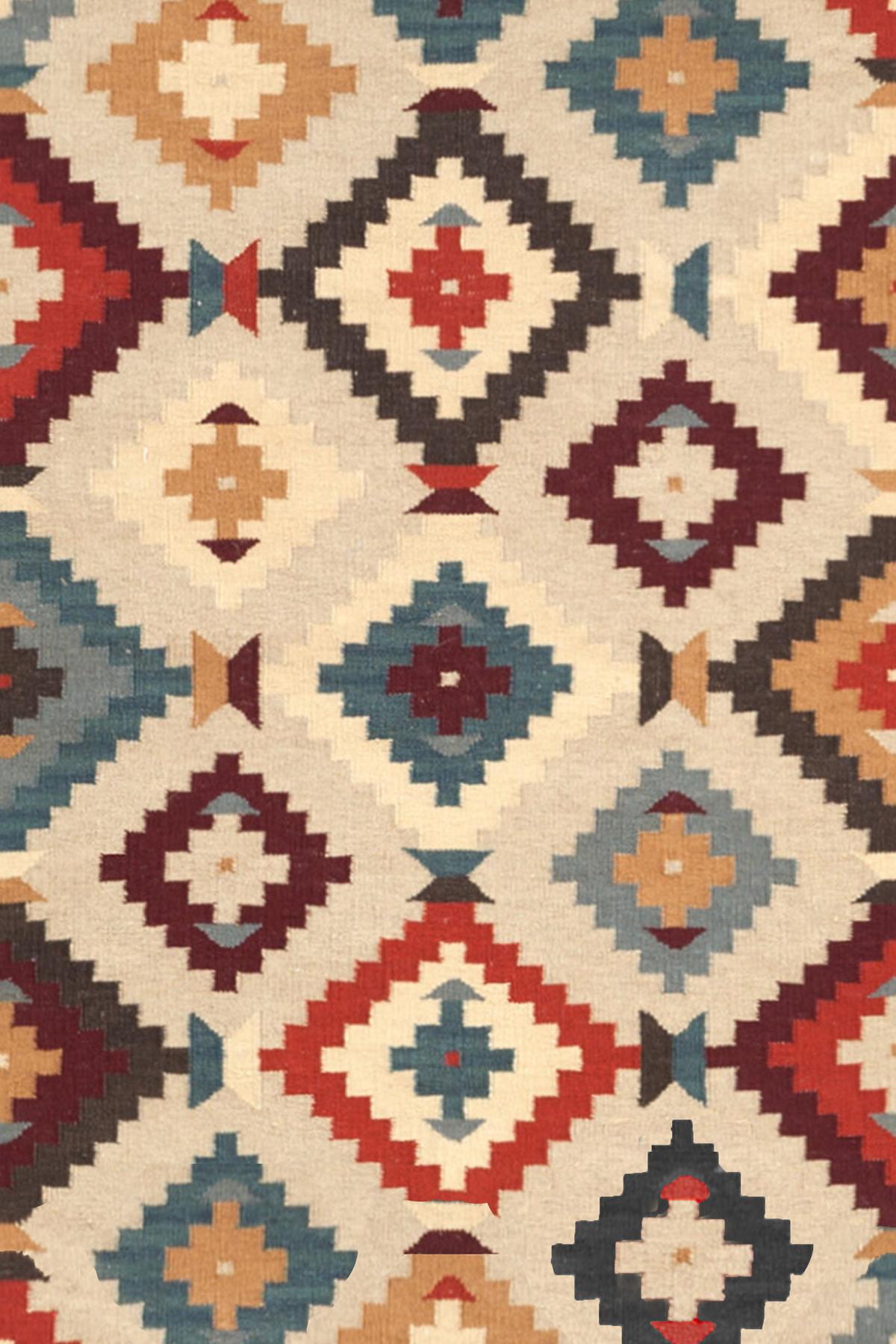 Texcoco Kilim Wool Woven Rug