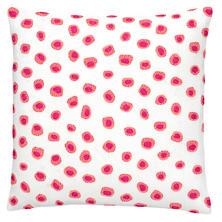 Thumbprint Coral/Fuchsia Embroidered Decorative Pillow