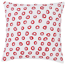 Thumbprint Red/White Decorative Pillow