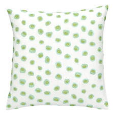 Thumbprint Sky/Green Embroidered Decorative Pillow