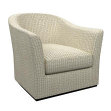 Pebble Ivory Thunderbird Swivel Chair