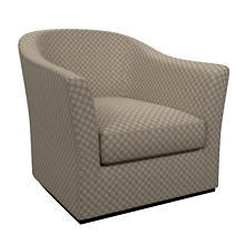 Sophie Embroidery Grey Thunderbird Swivel Chair