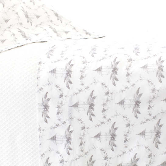 Tiki Toile Grey Pillowcases (Pair)