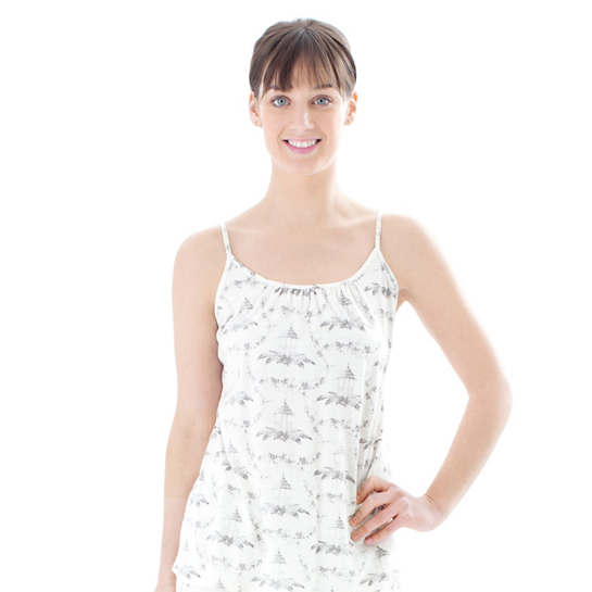 Tiki Toile Grey Tank Top