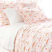 Tiki Toile Orange Duvet Cover