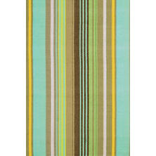 Tortola Ticking Woven Cotton Rug