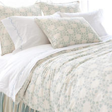 Trellis Damask Blue Duvet Cover