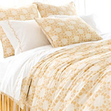 Trellis Damask Gold Duvet Cover