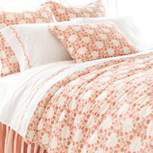 Trellis Damask Terracotta Duvet Cover