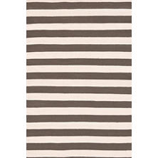 Trimaran Stripe Charcoal/Ivory Indoor/Outdoor Rug