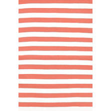 Trimaran Stripe Coral/White Indoor/Outdoor Rug