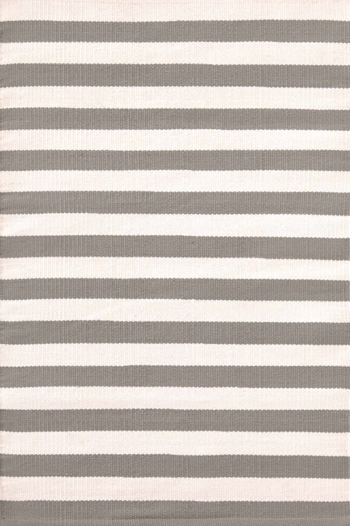 Trimaran Stripe Fieldstone/Ivory Indoor/Outdoor Rug