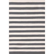 Trimaran Stripe Graphite/Ivory Indoor/Outdoor Rug