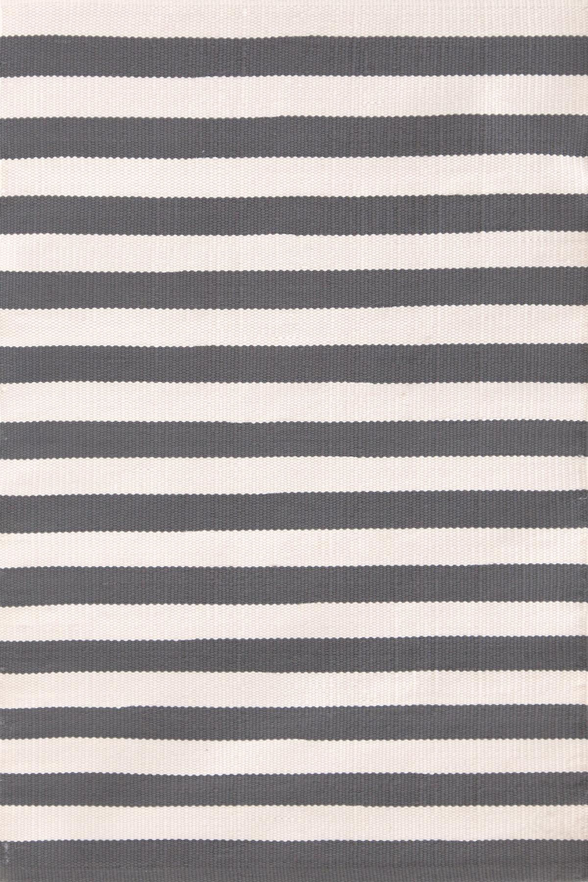 Trimaran Stripe Graphite/Ivory Indoor/Outdoor Rug