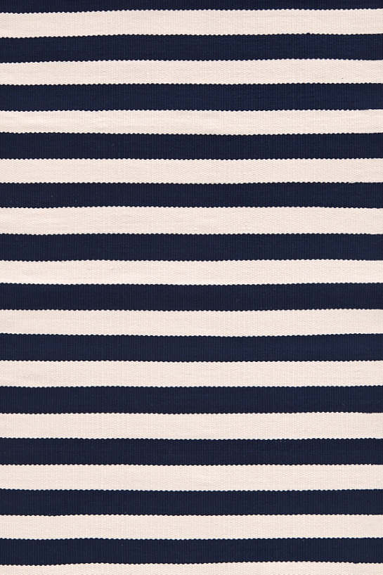 Trimaran Stripe Navy/Ivory Indoor/Outdoor Rug