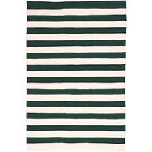 Trimaran Stripe Pine/Ivory Indoor/Outdoor Rug