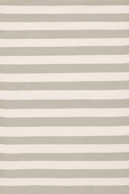 Trimaran Stripe Platinum/Ivory Indoor/Outdoor Rug