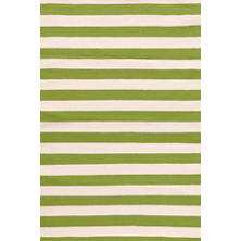 Trimaran Stripe Sprout/Ivory Indoor/Outdoor Rug