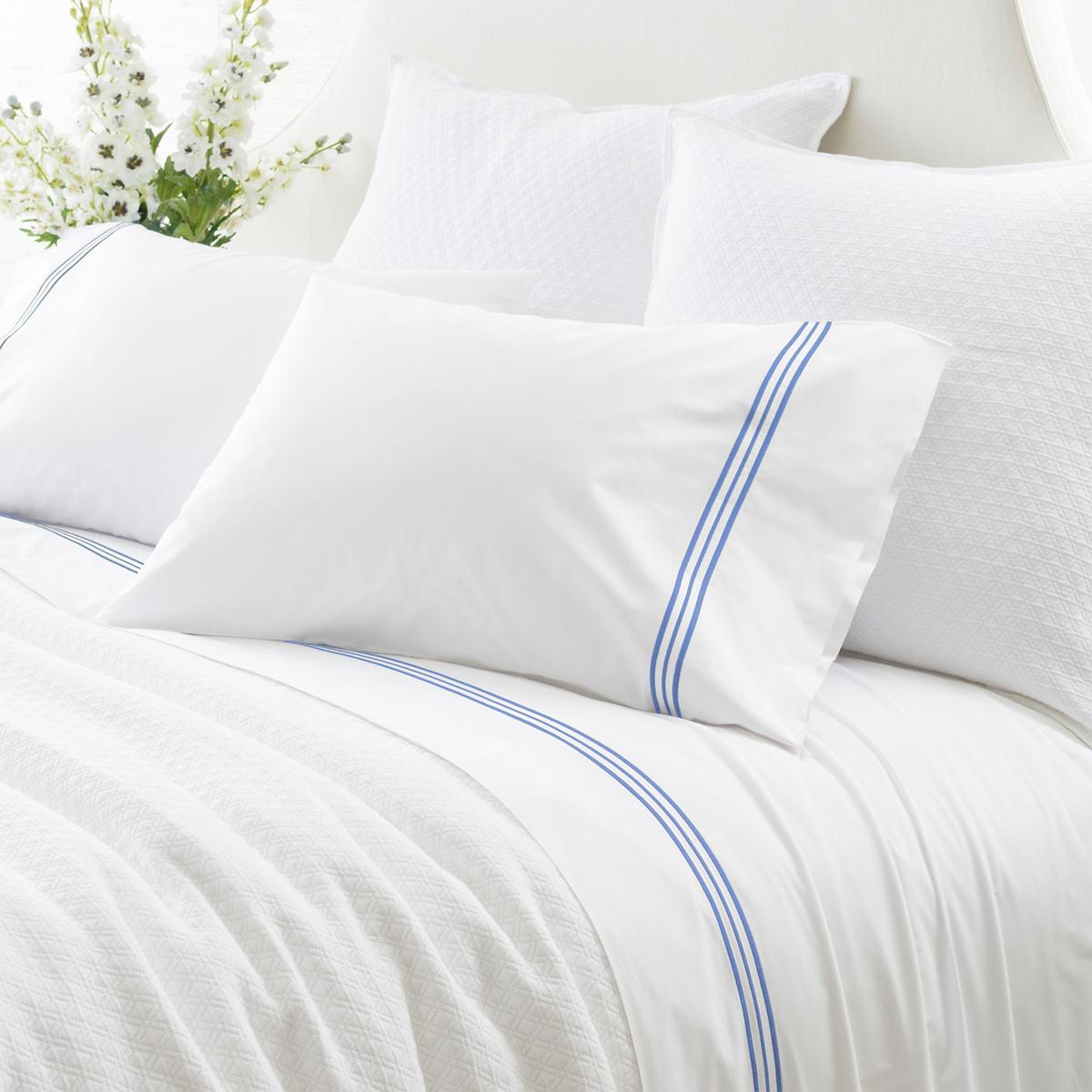 Trio French Blue Pillowcases (Pair)